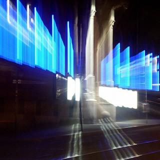 WUK Fassaden-Lichtinstallation